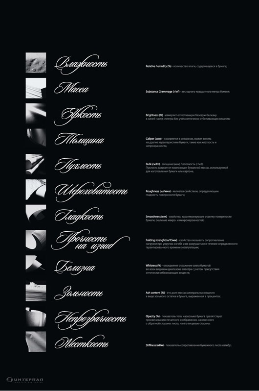 "Calendar ""Characteristics of the paper in the nude"", 2011"